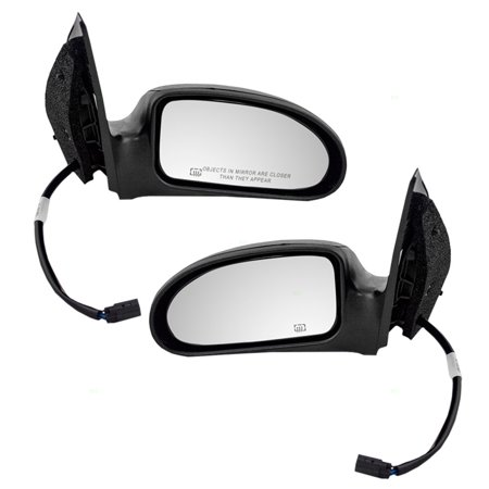 Driver and Passenger Power Side View Mirrors Heated Textured Replacement for Ford Focus 6S4Z17683CA 6S4Z 17682 (2007 Ford Focus Driver Side Mirror Replacement)