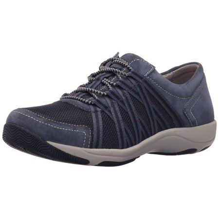 Dansko Womens Honor Suede Leather Low Top Lace Up Running, Blue Suede, Size 8.5 ()