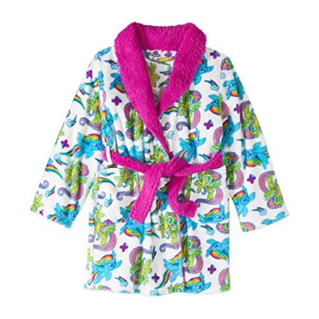 My Little Pony Movie Bathrobe for Toddler Girls Fleece Faux Fur Robe - Kings Robe Fur