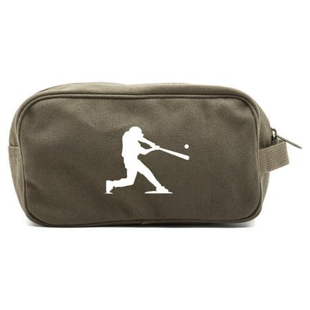 Baseball Player Canvas Shower Kit Travel Toiletry Bag