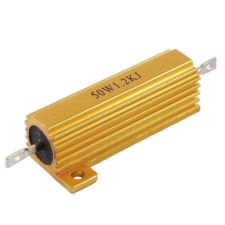 - Unique Bargains 50 Watt 1.2K Ohm 5% Gold Tone Aluminum Shell Wire Wound Resistor
