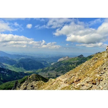 Laminated Poster Mountains Tatry View Slovakia Landscape Top View Poster Print 24 X 36