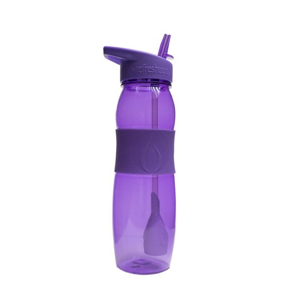 "Refresh2go ""Curve"" Filtered Water Bottle, 26 oz, Purple by Lexi Group"