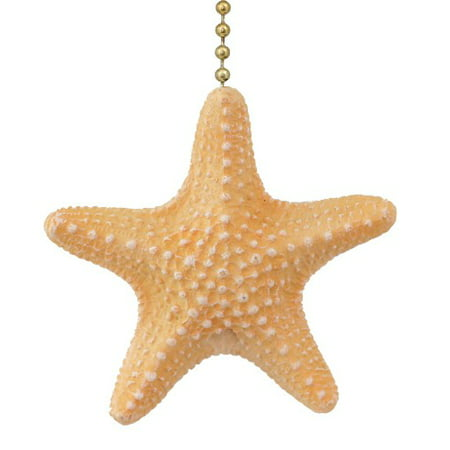 Coastal Beach Treasure Armoured Starfish Ceiling Fan Pull or Light Pull Chain - Starfish Fruit