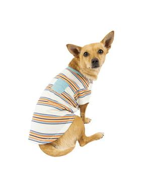 Vibrant Life Multi-Colored Stripe Pocket Dog T-Shirt