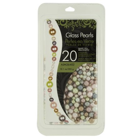 Cousin Glass Pearls Bead Assortment, 1 Each