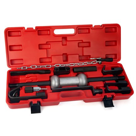 - 10LB Auto Body Repair Slide Hammer Dent Puller Tool Kit with Case, 13PC
