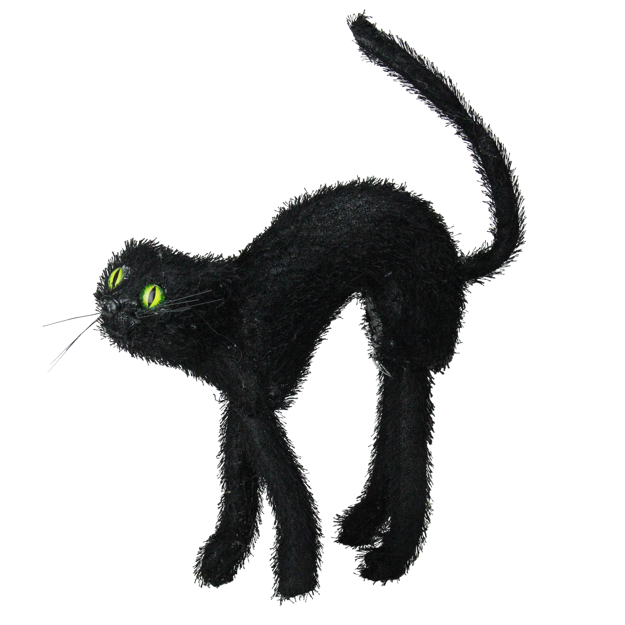"Northlight 15 5"" Scary Cat with Prelit Eyes Halloween Decoration Black Walmart"