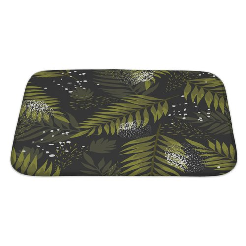 Gear New Leaves Leaf Palm Bath Rug