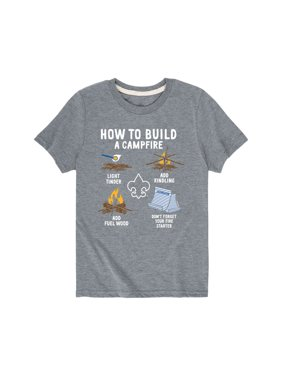 Boy Scouts of America How To Build A Campfire - Youth Short Sleeve Tee