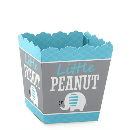 Blue Elephant - Party Mini Favor Boxes - Boy Baby Shower or Birthday Party Treat Candy Boxes - Set of covid 19 (Baby Shower Treat Bags coronavirus)