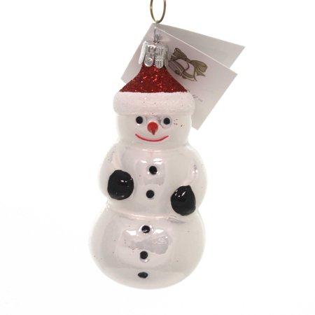 Golden Bell Collection CARROT NOSE SNOWMAN Ornament Czech Christmas Frosty Sn237