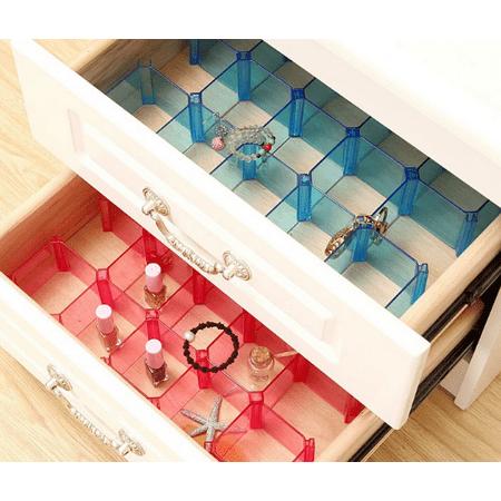 Drawer Divider Organizer,Underwear Ties Bra Socks Storage Plastic Box Organizer Case Desktop 6Pcs/set Plastic Storage Dividers