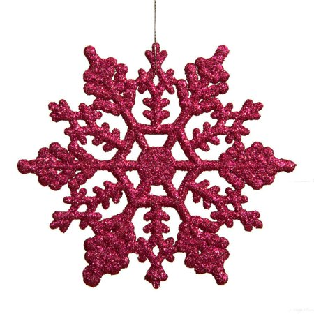Northlight 24ct Glitter Snowflake Christmas Ornament Set 4