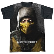 Mortal Kombat X - Finish Him - Short Sleeve Black Back Shirt - Large