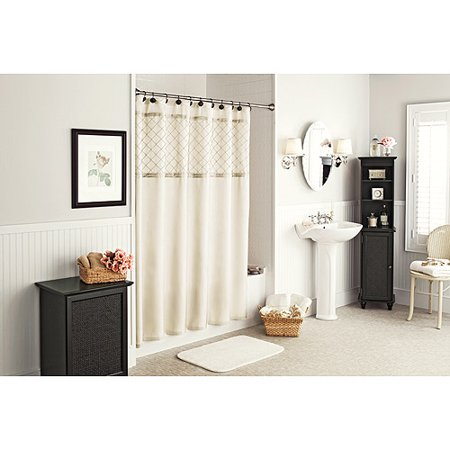 Better Homes And Gardens Lattice Pintuck Shower Curtain Cream Mist