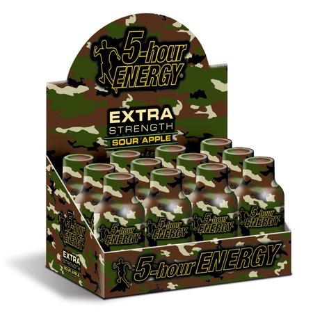 5 HOUR ENERGY Tir Extra Strength Sour Apple- 12 Paquet de 2 bouteilles Ounce