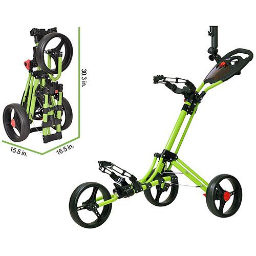 CaddyTek CaddyLite ONE - 1-Click Folding Golf Push Cart