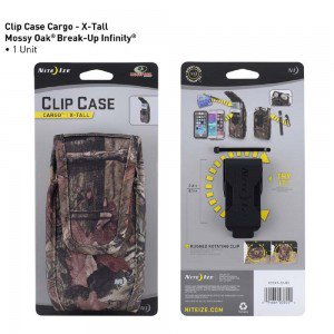 Nite Ize Clip Case Cargo Extra Tall Mossy Oak
