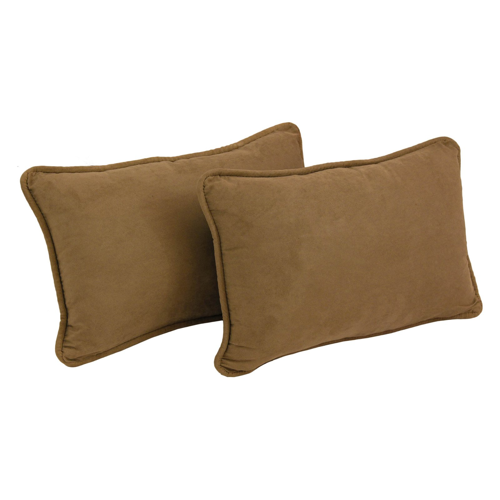 Blazing Needles Microsuede 20 x 12 in. Rectangle Decorative Throw Pillows - Set of 2