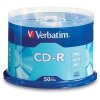Verbatim, VER94691, Branded CD-R Media, 50