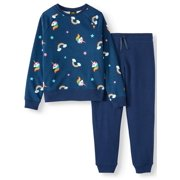 Athletic Works Printed Fleece 2-Piece Active Set (Little Girls, Big Girls & Plus)