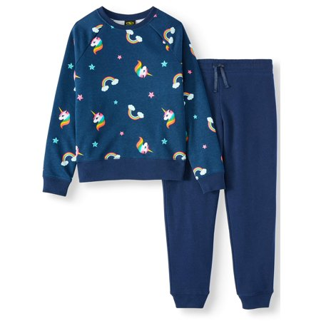 Athletic Works Printed Fleece 2 Piece Active Set (Little Girls, Big Girls & Plus) by Athletic Works