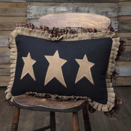 Raven Black Primitive Bedding Settlement Stars Cotton Appliqued