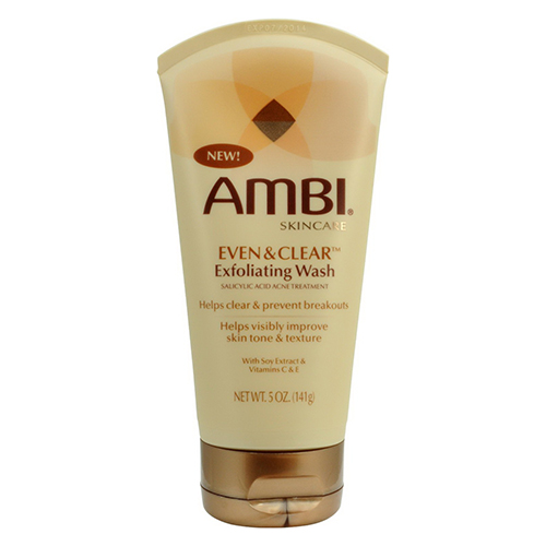 Ambi Skin Care Even And Clear Exfoliating Wash Tube - 5 Oz