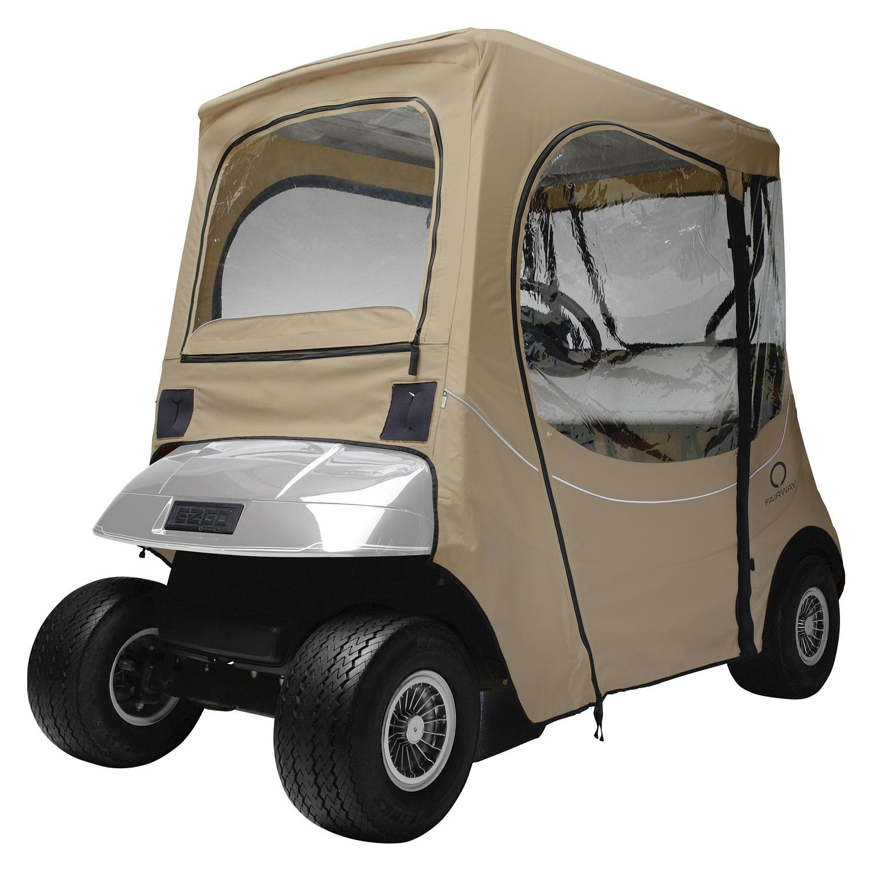 Classic Fairway Golf Cart FadeSafe E-Z-Go Enclosure - Khaki