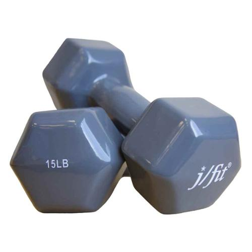 15 lbs. Vinyl Dumbbell - Set of 2