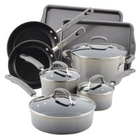 Rachael Ray Classic Brights Hard Enamel Nonstick 12-Piece Cookware Set