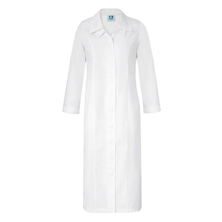 Adar Universal Double Embroidered Collar Dress - 2801 - White - 20
