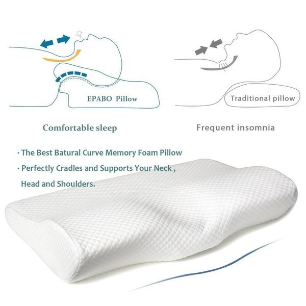 Memory Foam Contour Pillow Multifunctional Neck Massager Deep Sleep Neck Pillow
