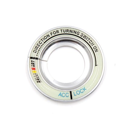 Silver Luminous (Silver Tone Luminous Engine Start Stop Switch Button Decorative Ring for )