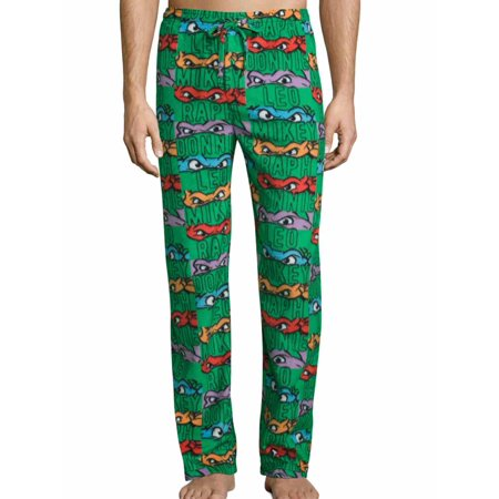 Teenage Mutant Ninja Turtles Mens Microfleece Sleep Pants Pajama Bottoms - Ninja Turtle Footed Pajamas For Adults