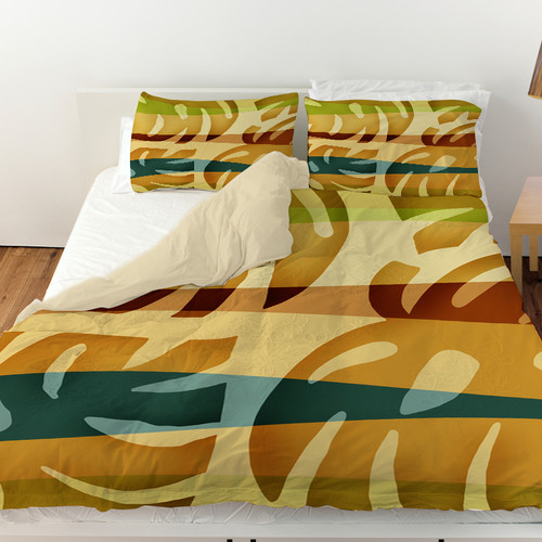Manual Woodworkers & Weavers Tropical Leaf Duvet Cover