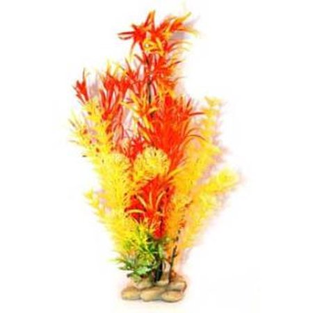 AQUATIC CREATIONS - Orange/Red Hornwort Plant - 15 Inches
