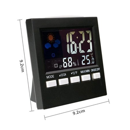 LCD Mini Digital Thermometer Hygrometer Humidity Room Weather Meter Indoor Clock - image 7 of 8