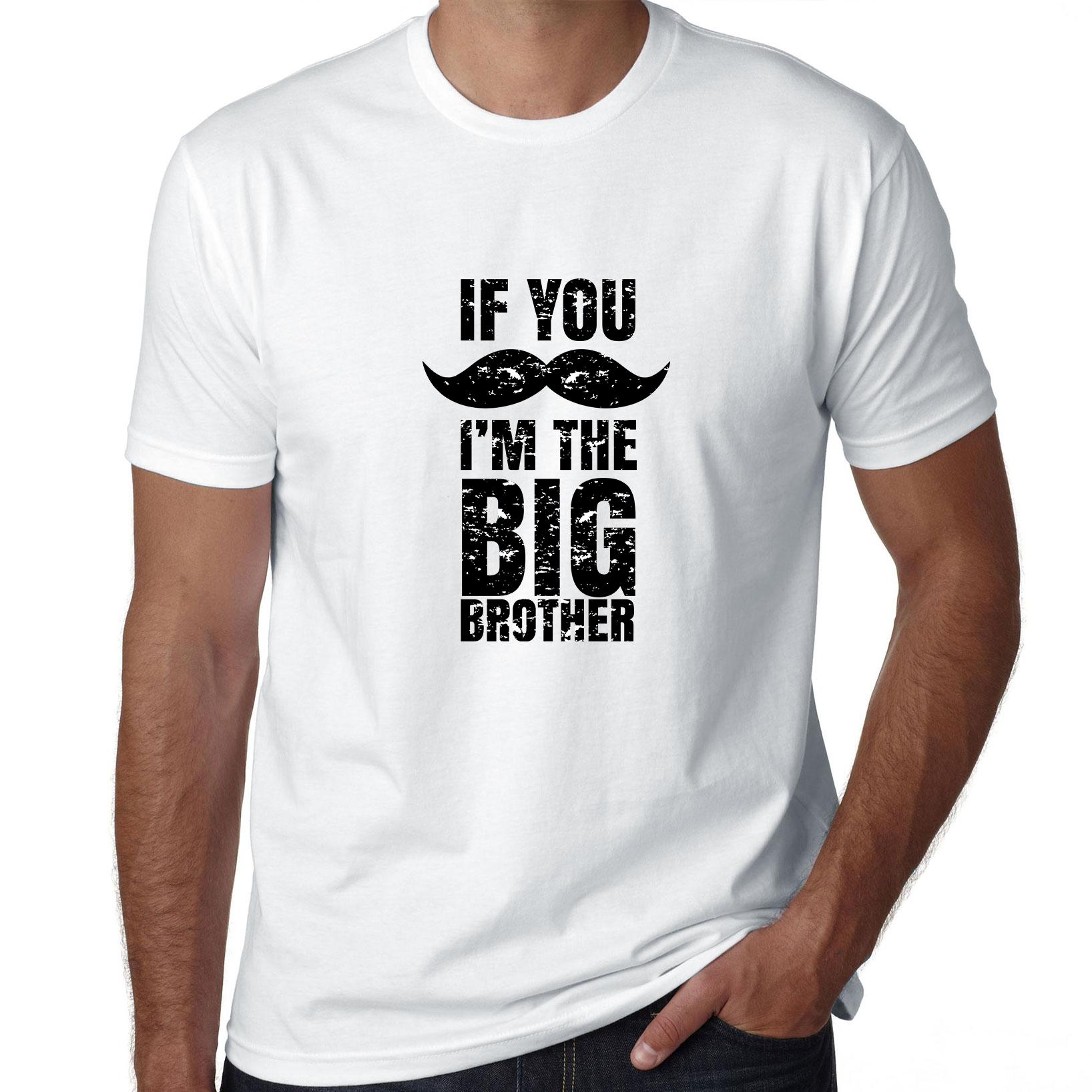 If You Mustache (Must Ask), I'm The Big Brother - Family Men's T-Shirt
