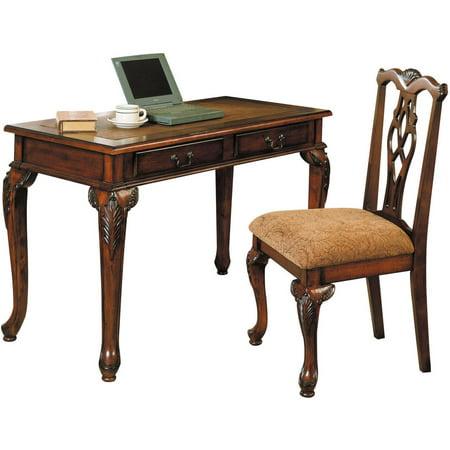 Aristocrat 2 Piece Pack Desk And Chair Dark Brown Cherry