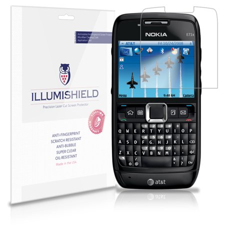 iLLumiShield Phone Screen Protector w Anti-Bubble/Print 3x for Nokia