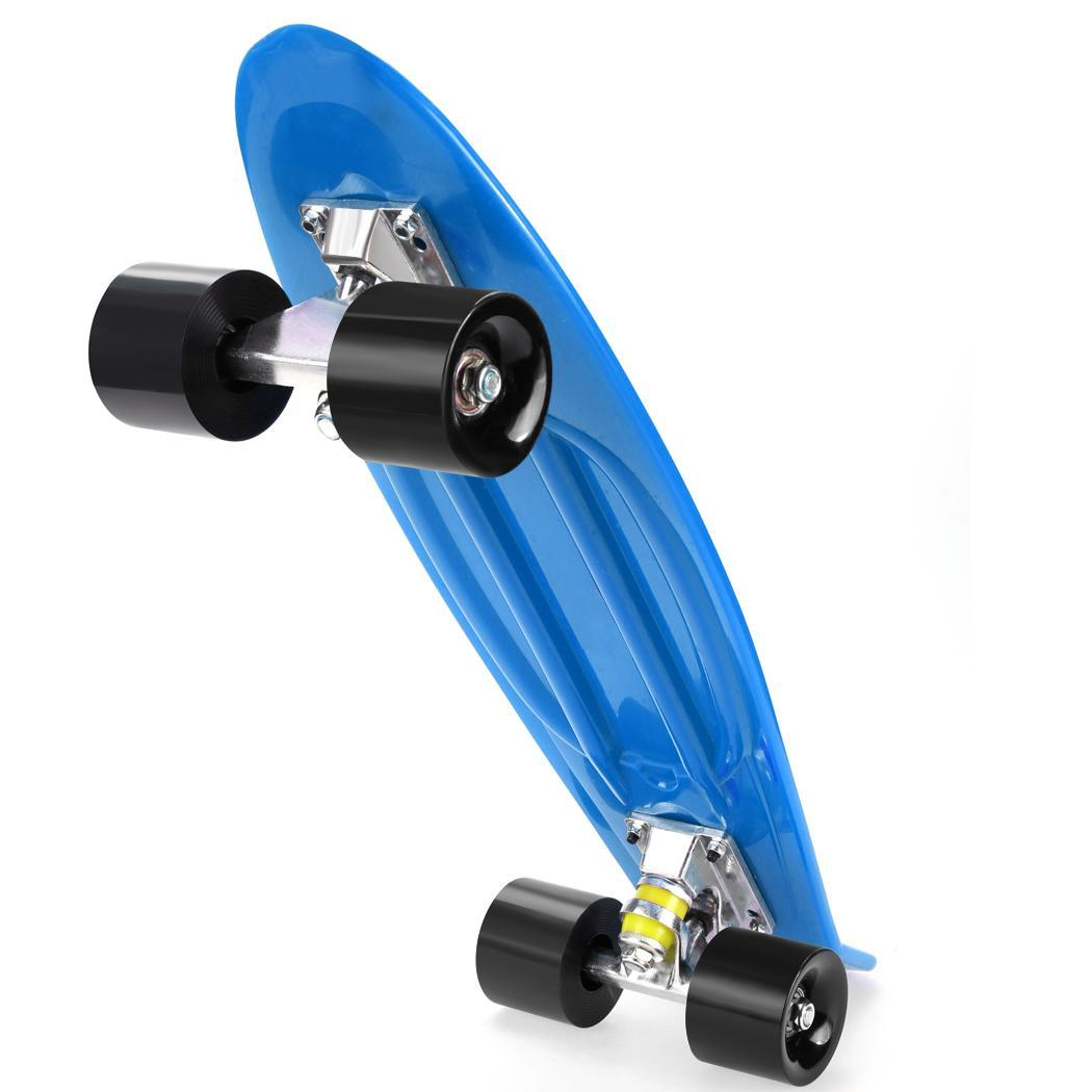 "22"" Complete Skateboard with Colorful PU Wheels for Kids, Boys, Girls, Youths, Beginners by"