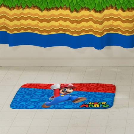 Super Mario Foam Bath Rug, 20in x 30in, Kids Bathroom, 1 Each ()