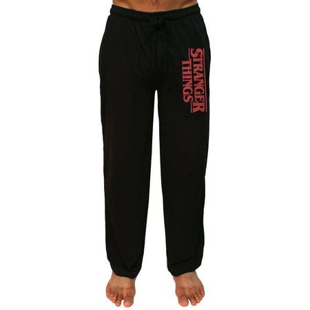 Stranger Things Men's TV Show Original Logo Adult Loungewear Pajama Pants