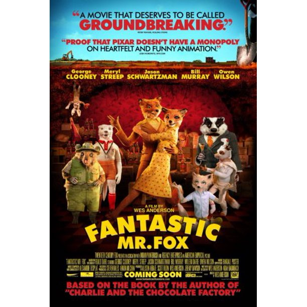 Fantastic Mr Fox Movie Poster 11x17 Mini Poster Walmart Com Walmart Com