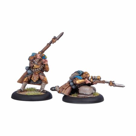 Trencher Infantry Officer and Sniper Command Attachment Cygnar Warmachine Miniature Game