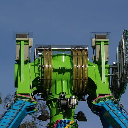 Laminated Poster Amusement Park Equipment Engine Technology Poster Print 11 x 17 ()