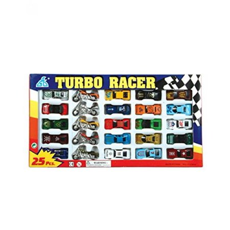 Rhode Island Novelty Turbo Racer Die Cast Car and Motorcycle Set,