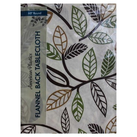 Tablecloth Multi Colored Leaf Design 60 Quot Round Walmart Com